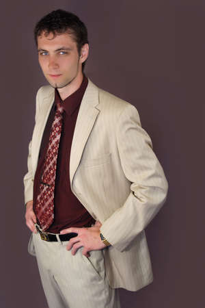 young nice looking businessman wearing tie