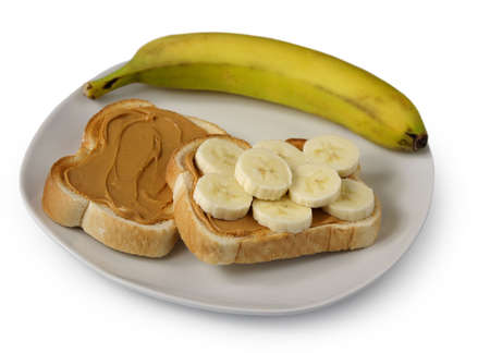 banana bread: peanut butter toast