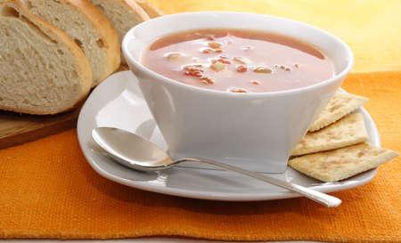 chowder: Manhattan clam chowder with fresh bread