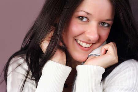 dentition: Close-up felice ritratto di donna con bel sorriso