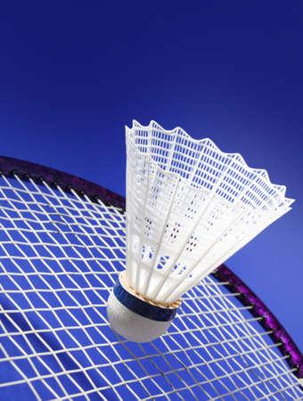 nylon: nylon badminton shuttlecock with blue background