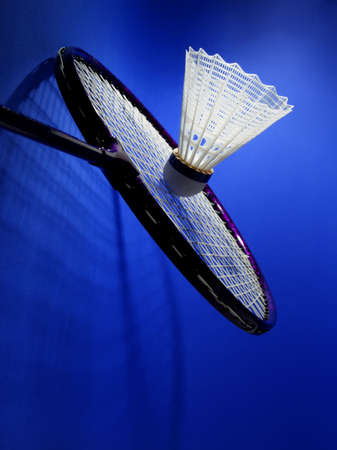 shuttlecock: nylon badminton shuttlecock with blue background