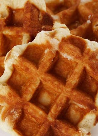 fresh Belgian waffles  免版税图像