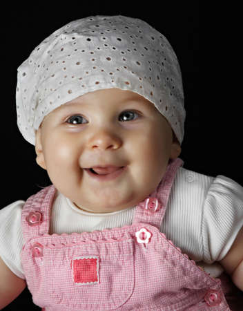 portrait of a 6 month baby girl Stock Photo - 3330009