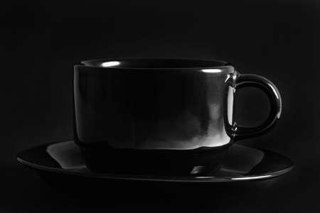black cup over black