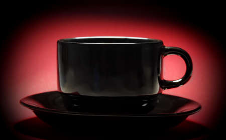 black cup over red
