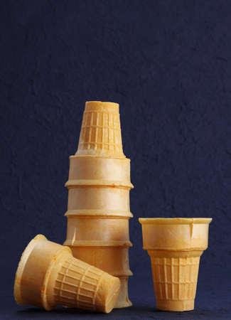 empty wafer ice cream cone