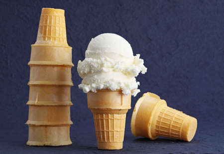 empty wafer ice cream cone