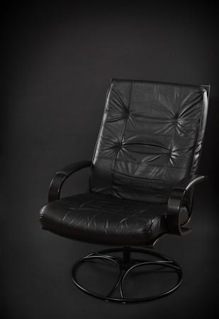 black leather chair Stok Fotoğraf