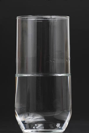 empty: half full, half empty glass of water