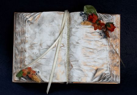 old decorative white and gold book Stock fotó