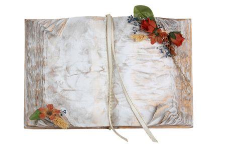 decorative book isolated on white background Stock Photo