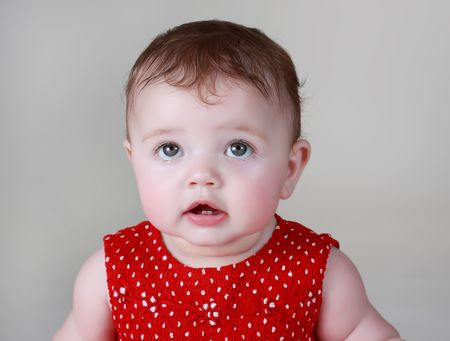 portrait of a cute 6 months baby girl Imagens