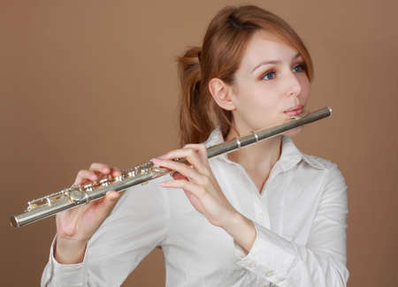 beautiful blond woman holding a flute Stock Photo - 5945680