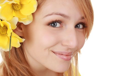 portrait of a beautiful young blond woman
