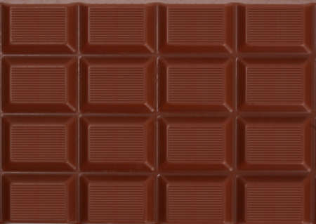 closeup on milk chocolate bar