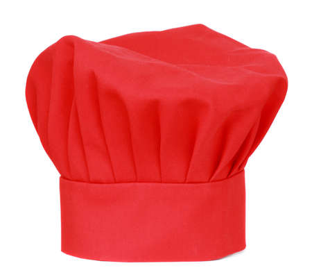 red chief cook hat isolated on white