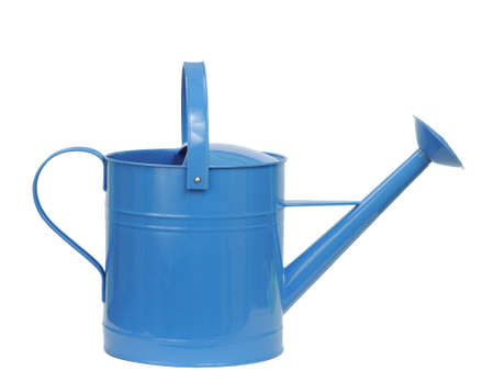 wateringcan: blue watering can isolated on white