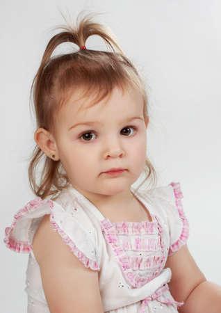 portrait of a cute little preschool girl Stock Photo - 7406820