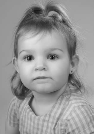 portrait of a cute little preschool girl photo