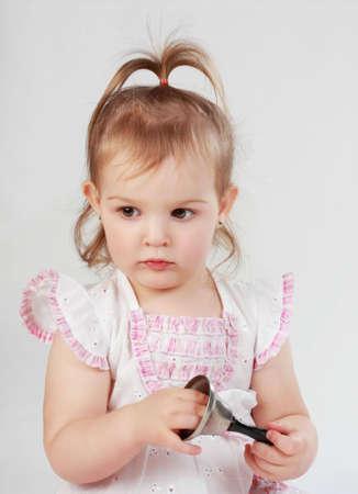 portrait of a cute little preschool girl