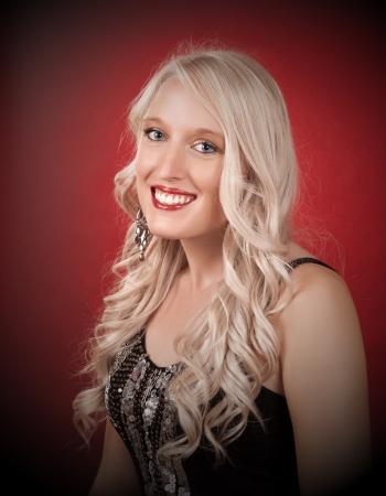 portrait of a beautiful blond caucasian woman
