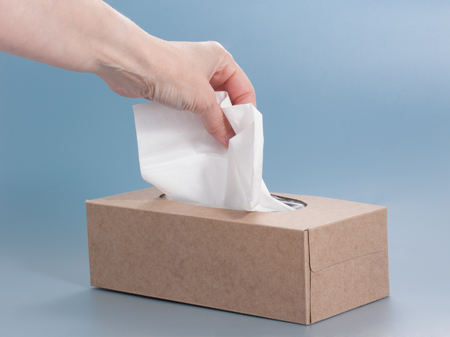 Nice natural cardboard box of paper tissue