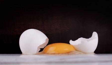 Fresh raw white eggs as ingredient