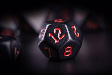 Set of polyhedral dice for role playing games