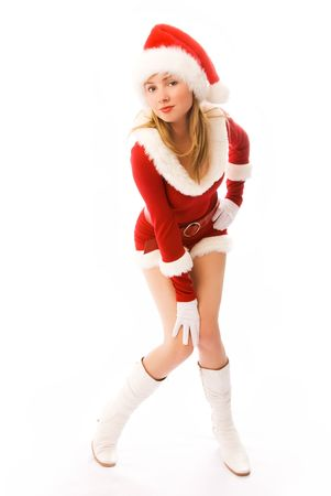 sexy blond girl dressed as Santa Stock Photo - 3771994