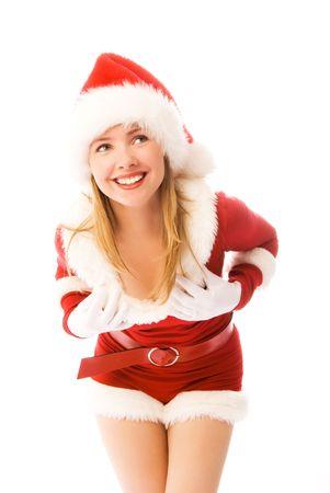 cheerful sexy girl celebrating Christmas photo