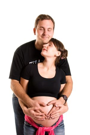 young pregnant woman and her husband Stock Photo - 3784029