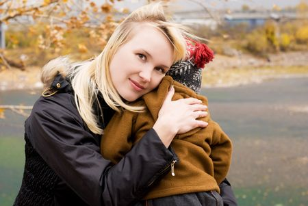 beautiful mother with her little son outdoor Stock Photo - 3784161