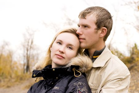 beautiful young couple outdoor Stock Photo - 3784135
