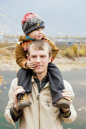 happy father with his little son outdoor Stock Photo - 3784159