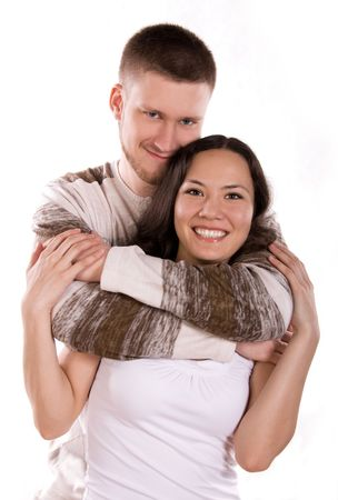 happy young couple photo
