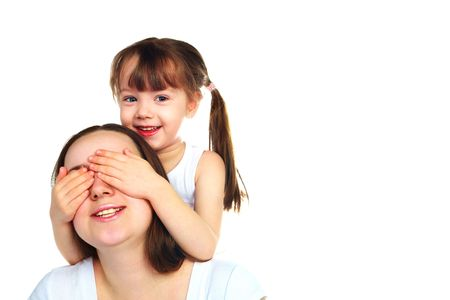 happy family, young beautiful mother with her daughter  photo