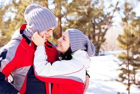 oudoor: happy young couple spending time oudoor in the park