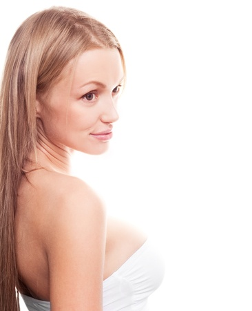 young blond woman, looking to the side, copyspace for a text Stock Photo - 12714128