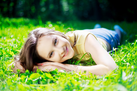 teenage girl: pretty teenage girl outdoor on a summer day Stock Photo