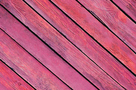 close up of an old wooden fence. Red paint emphasizes the invoice of a tree.