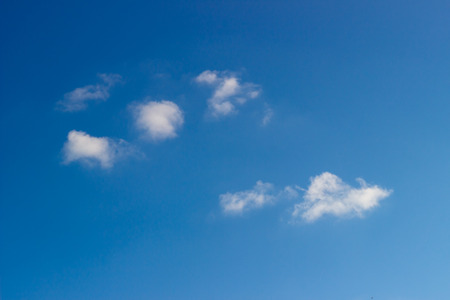 A few clouds on blue sky, texture background