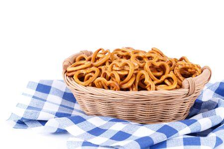 Small salty pretzels bavarian snack 版權商用圖片