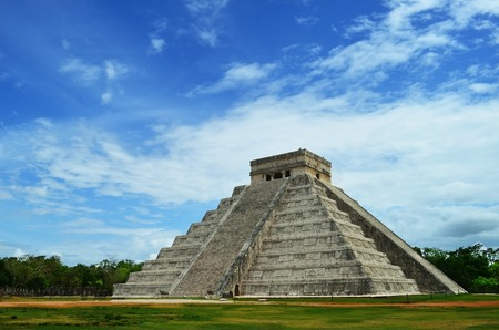 Mayan pyramid of Kukulkan in Mexico, Yucatan