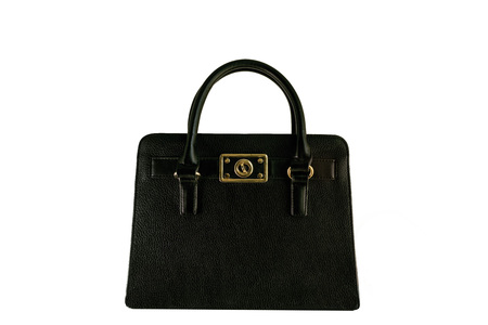 pochette: Vintage black briefcase with gold buckle, old fashion bag