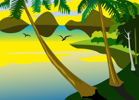 blue waters: tropical sea Illustration