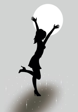 Girl silhouette Stock Vector - 11981593
