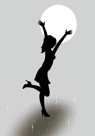 Girl silhouette Illustration