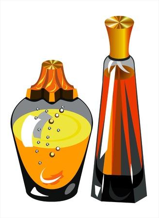 bottle of perfume Illustration