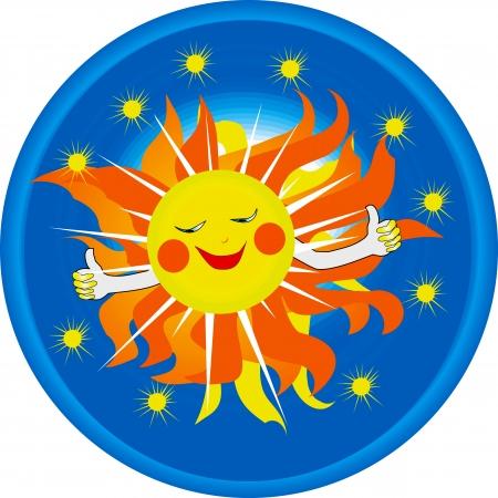 logo smiling sun Vector